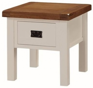 Heritage Stone Painted End Table with Drawer