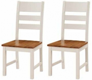 Heritage Stone Painted Ladder Back Dining Chair (Pair)