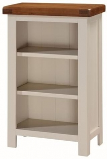 Heritage Stone Painted Low Slim Bookcase