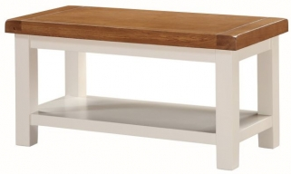 Heritage Stone Painted Coffee Table with Shelf - Small