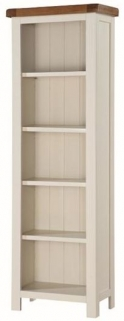 Heritage Stone Painted Tall Slim Bookcase