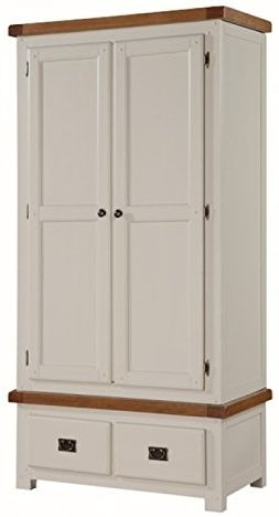 Heritage Stone Painted 2 Door 2 Drawer Double Wardrobe