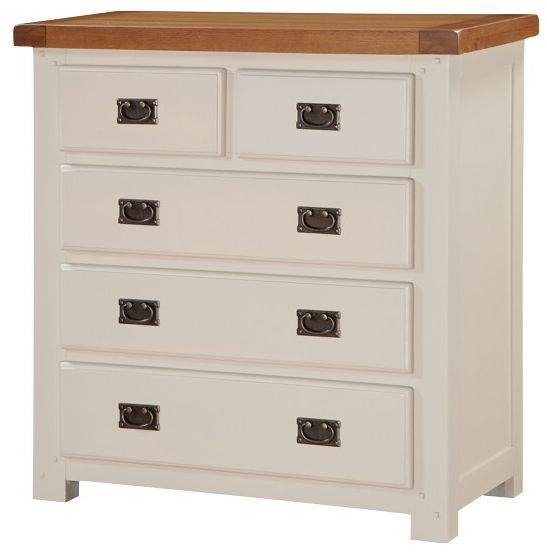 Heritage Stone Painted 2 Over 3 Chest of Drawer