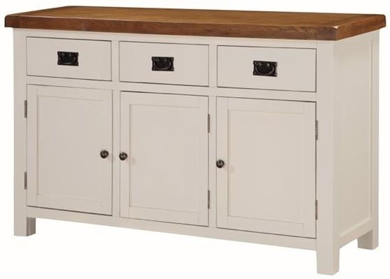 Heritage Stone Painted 3 Door Sideboard