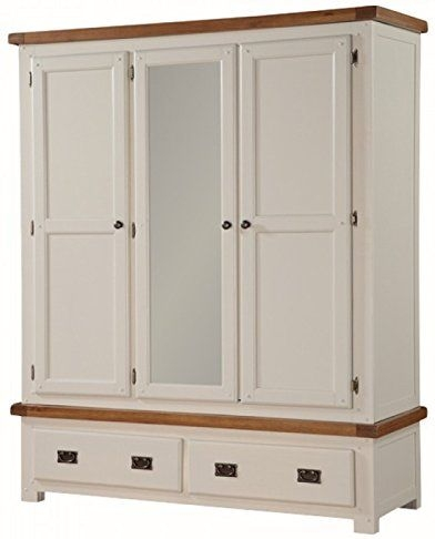 Heritage Stone Painted 3 Door Wardrobe