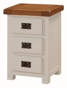 Heritage Stone Painted 3 Drawer Nightstand
