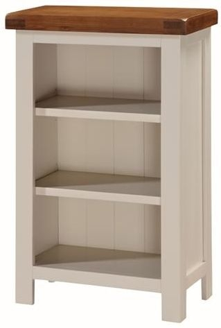 Heritage Stone Painted Bookcase - Low Slim