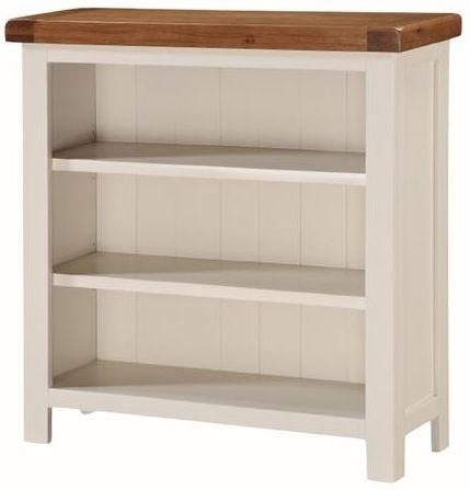 Heritage Stone Painted Low Wide Bookcase