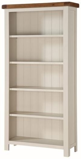 Heritage Stone Painted Tall Wide Bookcase