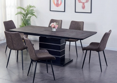 Imperia Dark Brown Tufftop Extending Dining Table