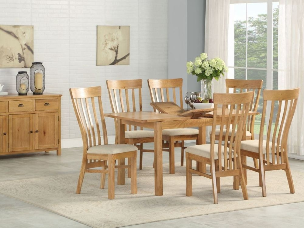 Kilmore Oak Extending Dining Table and 4 Chairs