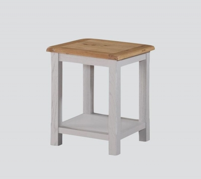 Kilmore End Table - Oak and Grey Painted