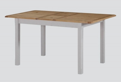 Kilmore Extending Dining Table - Oak and Grey Painted