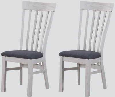 Kilmore Grey Painted Dining Chair (Pair)