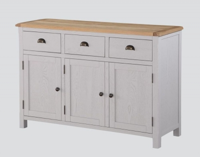 Kilmore Large Sideboard - Oak and Grey Painted
