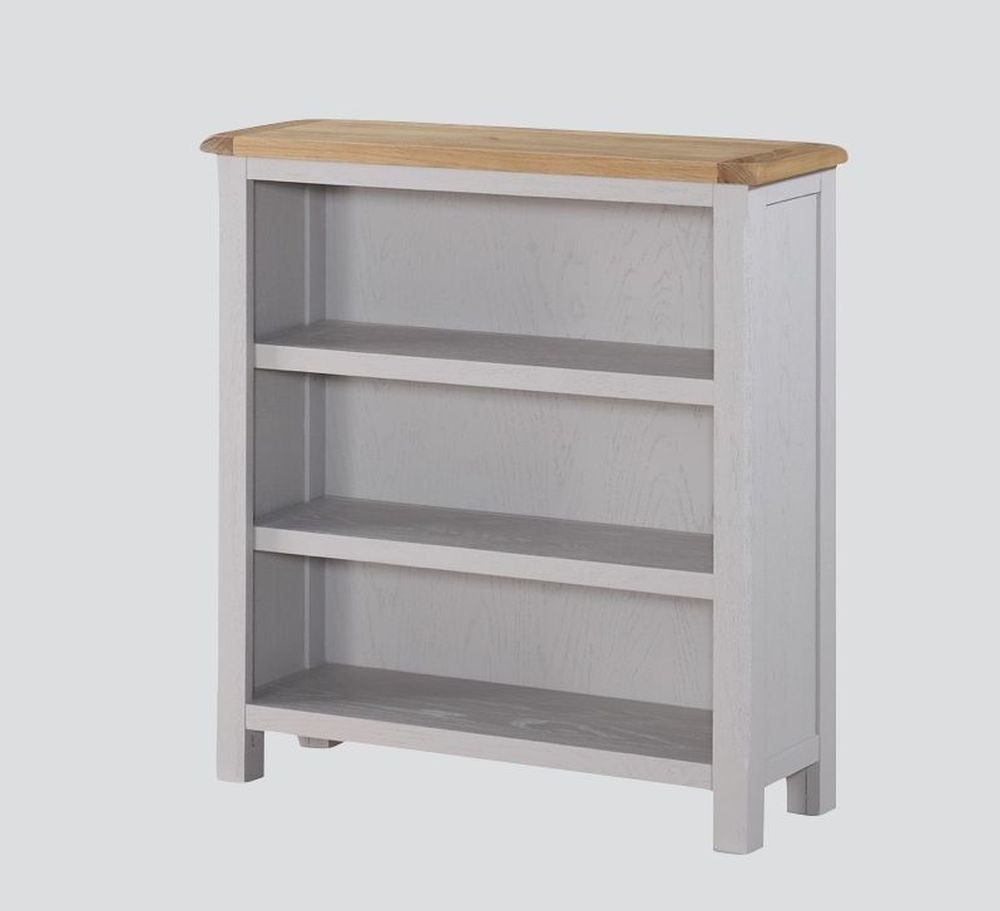 Kilmore Low Bookcase - Oak and Grey Painted