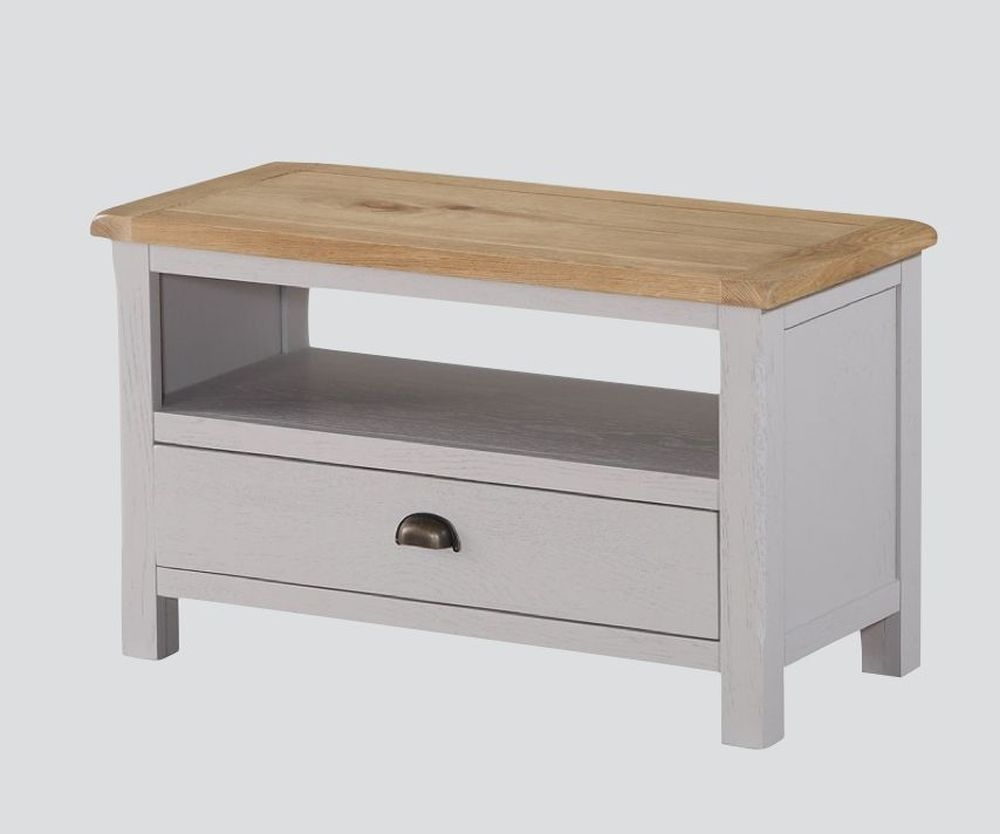 Kilmore TV Unit - Oak and Grey Painted