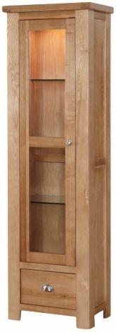 Carlingford Ash 1 Door Display Cabinet