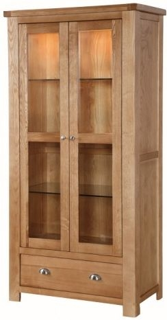 Carlingford Ash 2 Door Display Cabinet