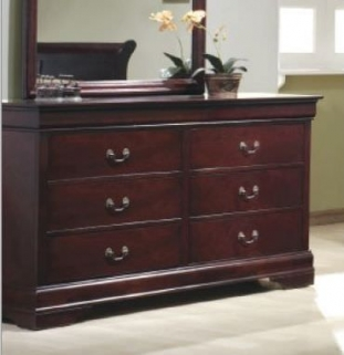Louis Philippe Cherry Chest of Drawer - 6 Drawers