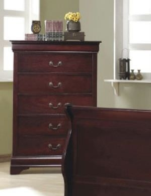 Louis Philippe Cherry Chest of Drawer - 5 Drawer