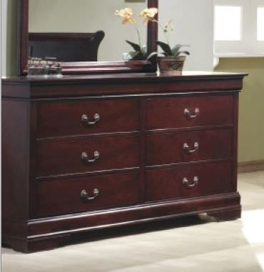 Louis Philippe Cherry Dresser - 6 Drawer