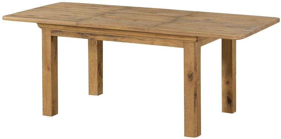 Lyon Solid Oak Rectangular Extending Dining Table - 140cm-200cm