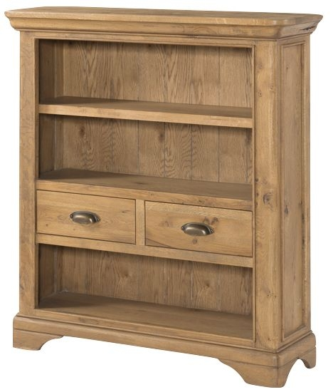 Lyon Solid Oak 2 Door Small Bookcase