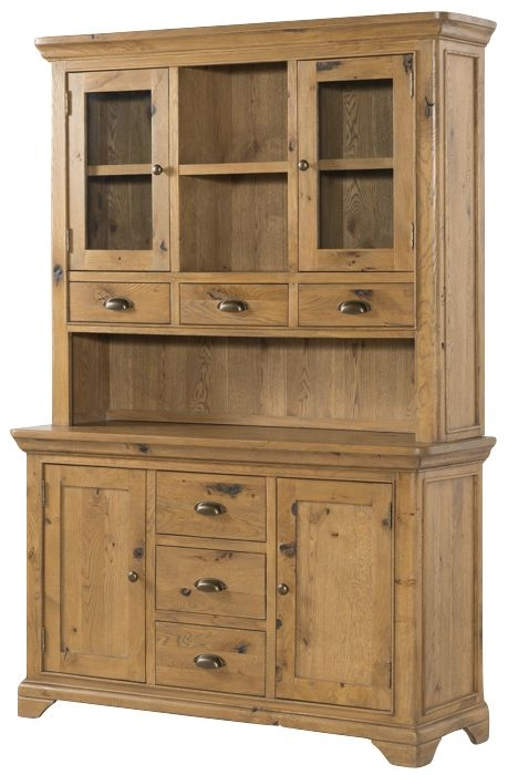 Lyon Large Buffet Hutch - Oak