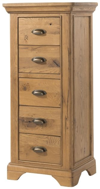 Lyon Solid Oak 5 Drawer Chest