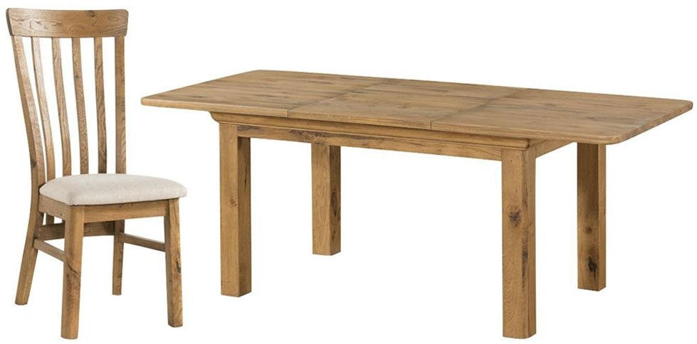 Lyon Oak Dining Set - 140 cm Extending with 6 Chairs