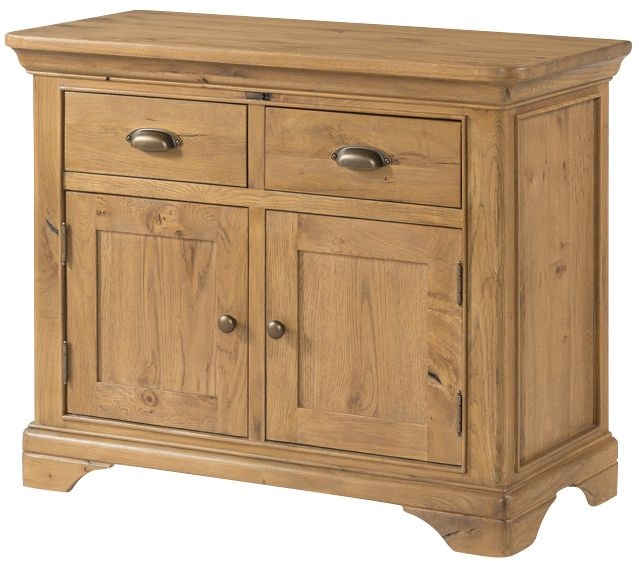 Lyon Solid Oak 2 Door 2 Drawer Small Sideboard