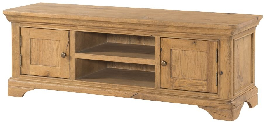 Lyon Solid Oak 2 Door Large TV Unit