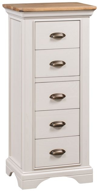 Lyon 5 Drawer Chest - Oak and Painted
