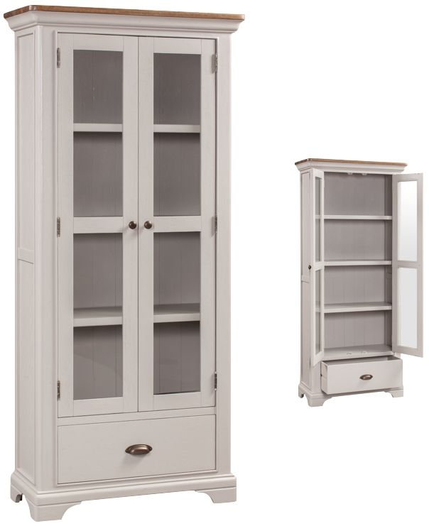 Lyon Display Cabinet - Oak and Painted