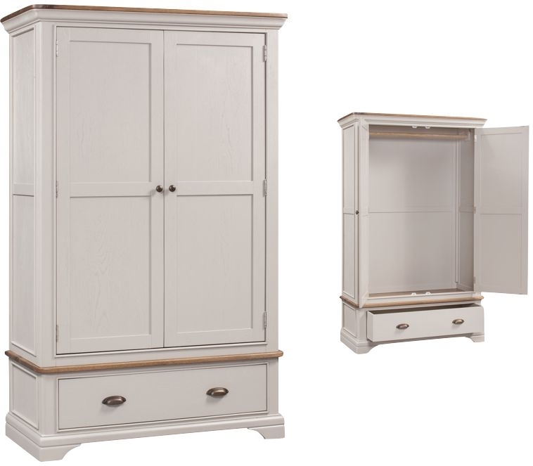 Lyon 2 Door Wardrobe - Oak and Painted