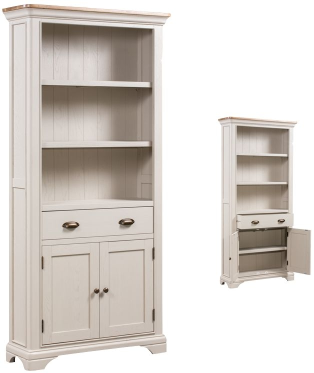 Lyon Large Bookcase - Oak and Painted
