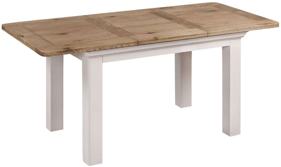 Lyon Large Butterfly Extending Dining Table - Oak and Painted
