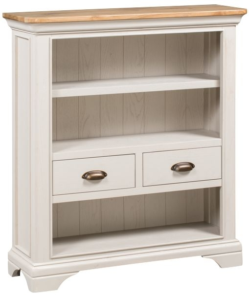 Lyon Low Bookcase - Oak and Painted