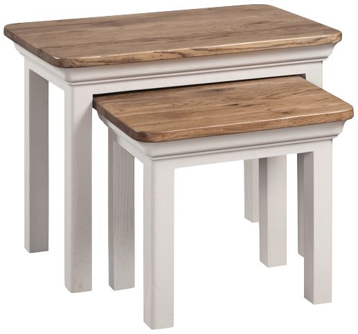 Lyon Nest of Tables - Oak and Painted