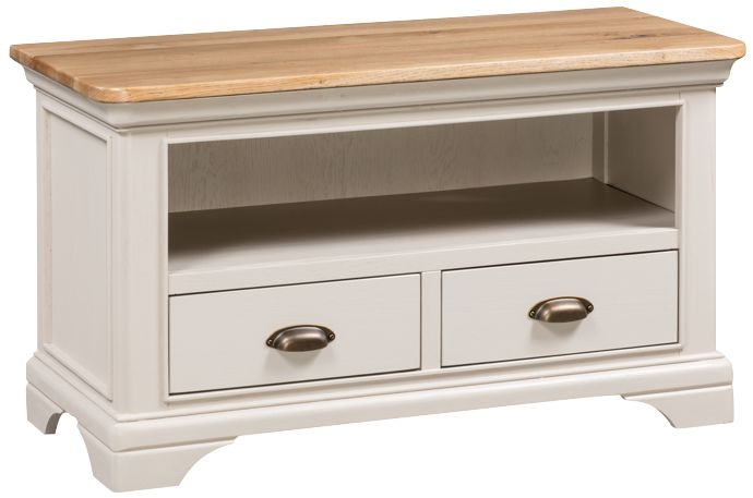 Lyon Standard TV Unit - Oak and Painted
