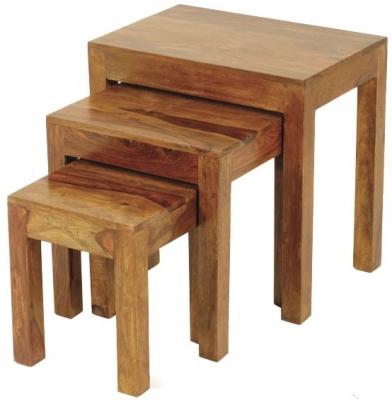 Madras Dark Sheesham Nest of Tables