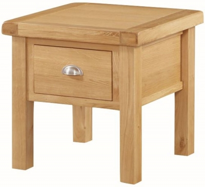 Newbridge Oak 1 Drawer End Table