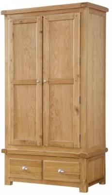 Newbridge Oak 2 Door Wardrobe