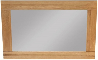 Newbridge Oak Bevelled Wall Mirror - 100cm x 70cm