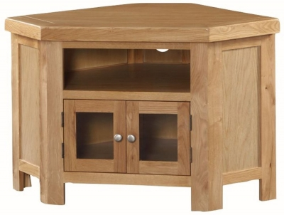 Newbridge Oak Corner TV Unit