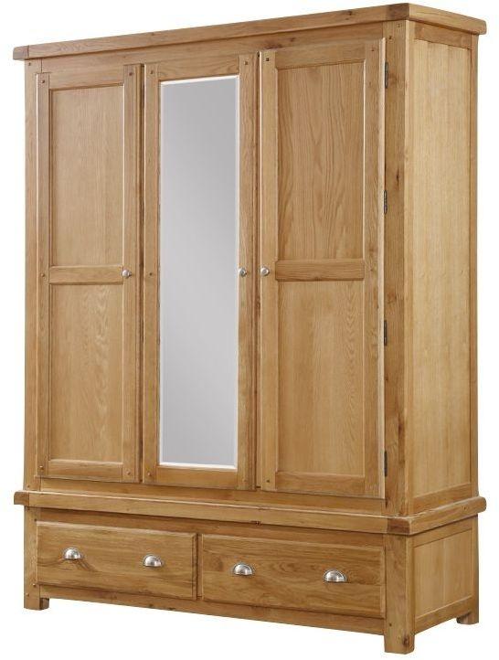 Newbridge Oak 3 Door Wardrobe