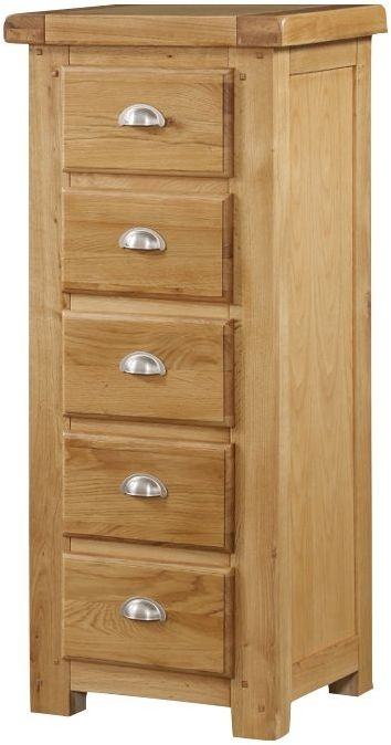 Newbridge Oak 5 Drawer Chest