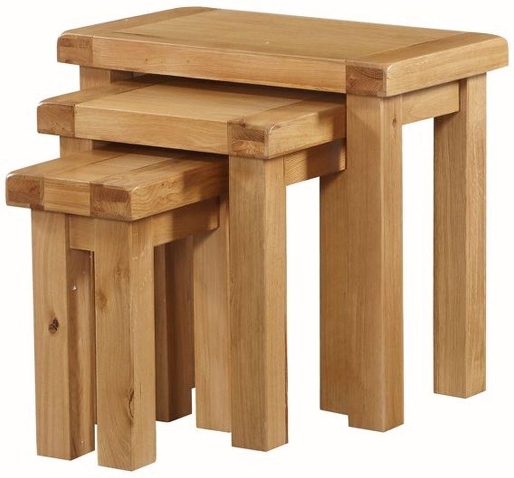 Newbridge Oak Nest of 3 Tables