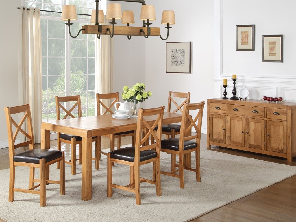 Oakridge Solid Oak Rectangular Extending Dining Table - 120cm-150cm